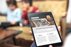 Webdesign mobile Tablet www.waermepumpen.de