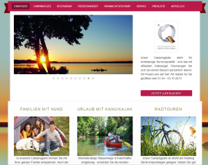 Screenshot Webseite Zeltplatz Himmelpfort