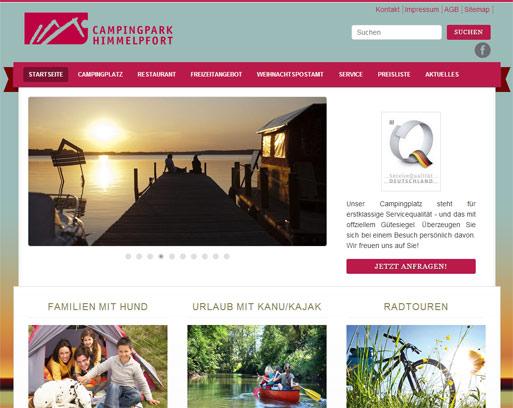 Webdesign Campingpark Himmelpfort Brandenburg