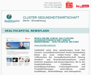 Newsletter Design HealthCapital