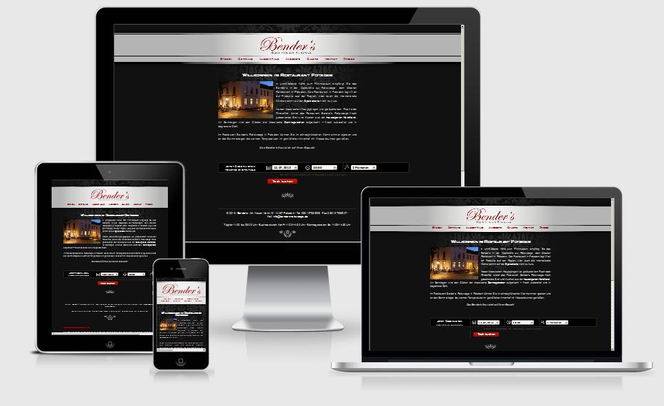 Screenshot Webseite Bender´s Ratswaage