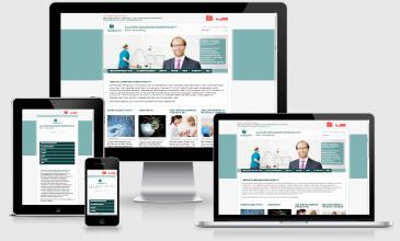 Responsive Webdesign Cluster Gesundheitswirtschaft