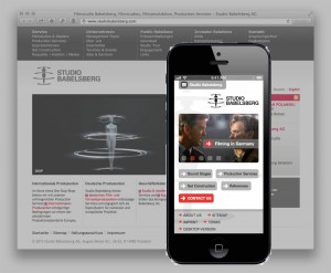 Mobile Website Studio Babelsberg