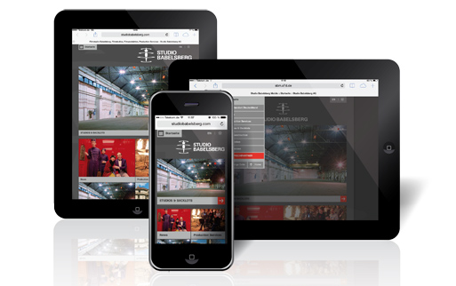 Mobiles Webdesign für Studio Babelsberg (Potsdam)