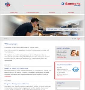 Qualitaetslogo einbinden von D-Sensors.de
