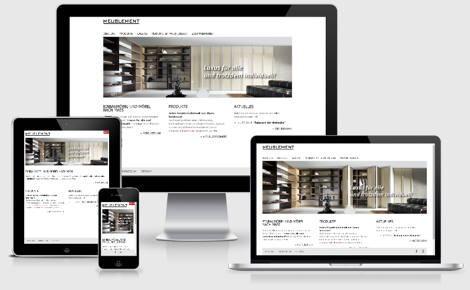 Responsives Webdesign für Meublement Berlin