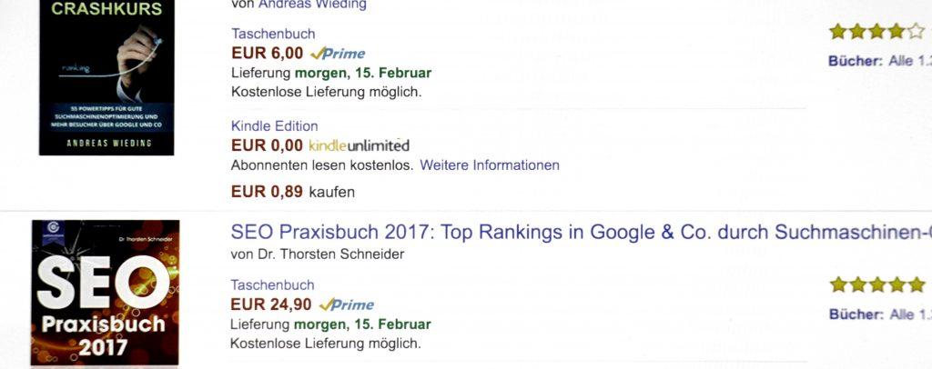 Amazon SEO Ranking Faktoren