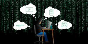 Hacker denkt über Gründe zum Hacking nach