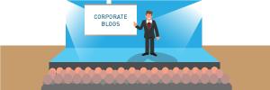 Mensch stellt Corporate Blogs vor
