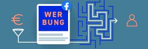 Titelbild mit Geld, Facebook Werbung und Usern