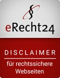 eRecht24 Siegel Disclaimer